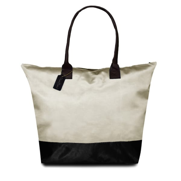 Peach Couture KYLIE Two-tone Plage a Main Waterproof Handbag
