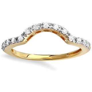 14k Yellow Gold 1/3ct TDW Round Diamond Anniversary Wedding Band (H-I, I1-I2)