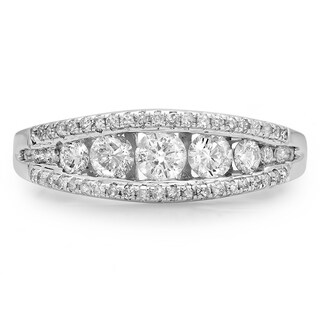 14k White Gold 3/4ct TDW Round Diamond Stackable Anniversary Ring (H-I, I1-I2)