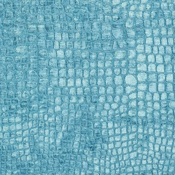 A0151m Aqua Turquoise Alligator Woven Velvet Upholstery Fabric By The Yard