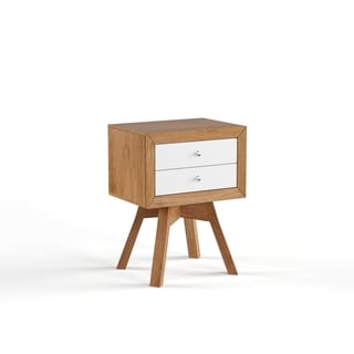 Warwick Walnut And White Two Tone Modern Nightstand