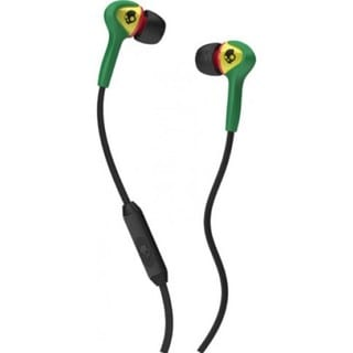 Skullcandy Smokin Buds Rasta Headphones with Mic
