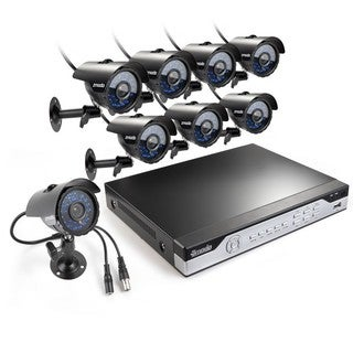 Zmodo 8-channel 960H DVR HDMI Surveillance Security System with 8 High-Res Weatherproof Cameras