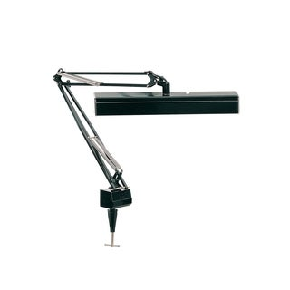Lite Source Solare Fluorescent Clamp-on Swing Arm Lamp, Black