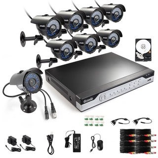 Zmodo 8-channel 960H HDMI 1TB DVR Surveillance Security System with 8 High-Res Weatherproof Cameras