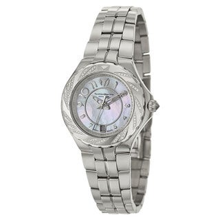 TechnoMarine Women's 'Sea Pearl' Stainless Steel Swiss Quartz Watch