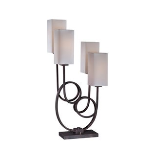 Lite Source Taisiya Fluorescent Table Lamp, Antique Bronze