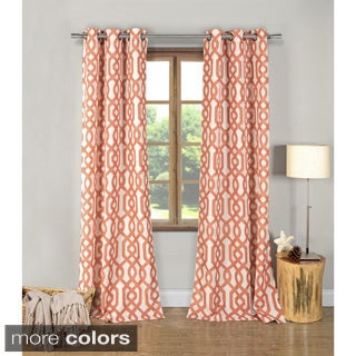 Ashmont Geometric 84-inch Grommet Top Curtain Panel Pair