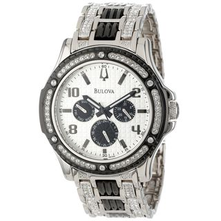 Bulova Men's 98C005 Chronograph Crystal Stainless Steel Watch