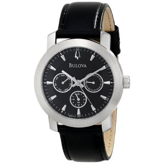 Bulova Men's 96C111 Chronograph Black Leather Watch