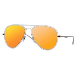 Ray-Ban RB4211 New Aviator Light Ray II Red Mirror Lens Sunglasses 15725539