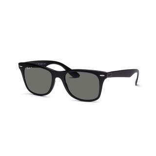 Ray-Ban Liteforce Wayfarer Tech RB4195 Black Polarized Green 52mm Sunglasses