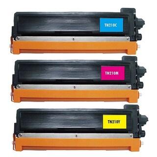 3 Pack Replacing Brother TN-210 210C 210M 210Y Toner Cartridge