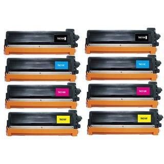 8 Pack Replacing Brother TN-210 210C 210M 210Y 210BK Toner Cartridge