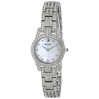 Bulova Women's 96L149 Crystal Stainless Steel Watch