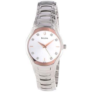 Bulova Women's 96P145 Diamond Stainless Steel Watch