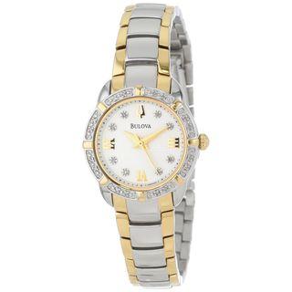 Bulova Women's 98R170 Diamond Two-Tone Stainless Steel Watch
