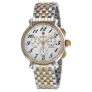 Michele Women's MWW24A000007 'Fluette' Chronograph Diamond Two-Tone Stainless Steel Watch
