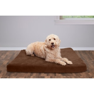 Furhaven Quilted Suede Deluxe Orthopedic Pet Bed