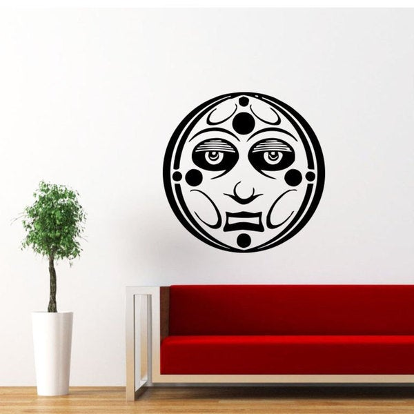 Sun Moon Crescent Ethnical Black Vinyl Sticker Wall Art