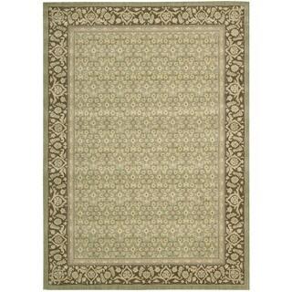 Nourison Persian Empire Green Rug (5'3 x 7'5)