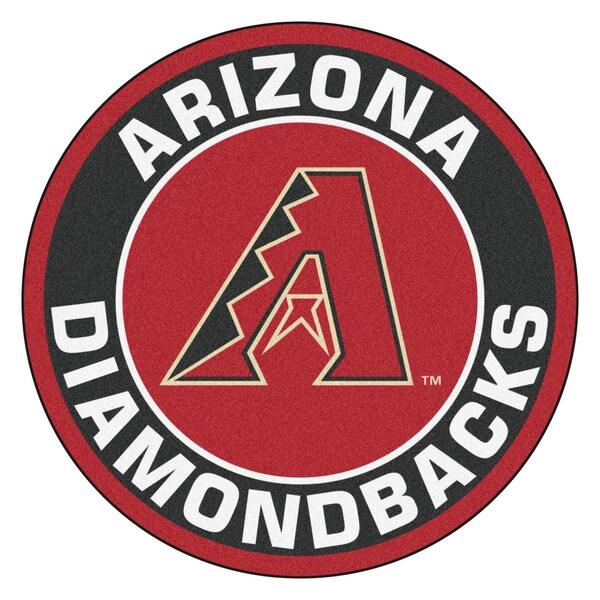 Fanmats MLB Arizona Diamondbacks Burgundy Nylon Roundel Mat (2'3 x 2'3)