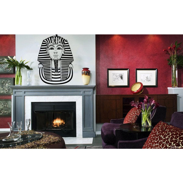 Egyptian Pharaoh Black Vinyl Sticker Wall Art