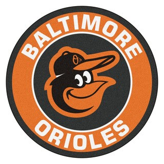 Fanmats MLB Baltimore Orioles Orange Nylon Roundel Mat (2'3 x 2'3)