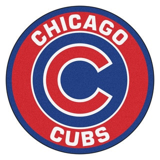 Fanmats MLB Chicago Cubs Red Nylon Roundel Mat (2'3 x 2'3)