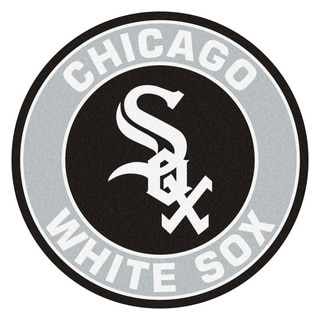 Fanmats MLB Chicago White Sox Grey and Black Nylon Roundel Mat (2'3 x 2'3)