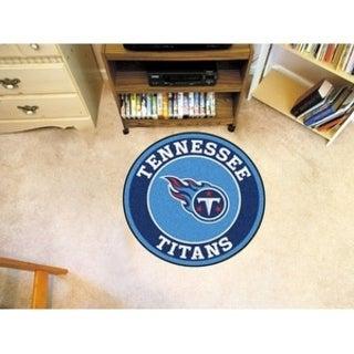 Fanmats NFL Tennessee Titans BlueNylon Roundel Mat (2'3 x 2'3)