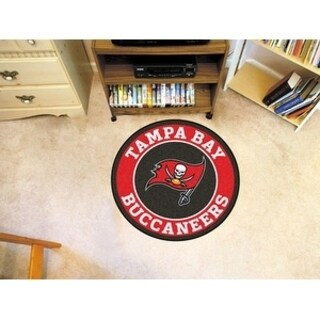 Fanmats NFL Tampa Bay Buccaneers Red and Black Nylon Roundel Mat (2'3 x 2'3)