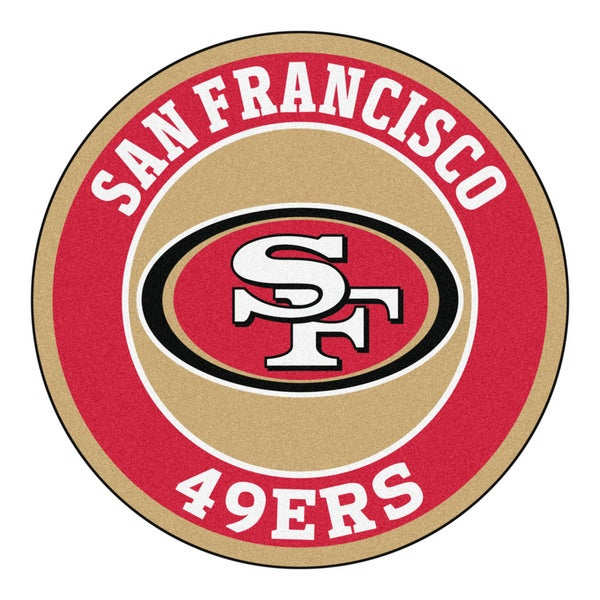 Fanmats NFL San Francisco 49ers Gold and Red Nylon Roundel Mat (2'3 x 2'3)