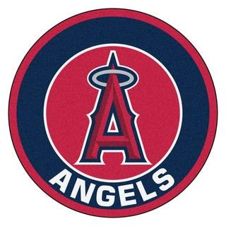 Fanmats MLB Los Angeles Angels Red Nylon Roundel Mat (2'3 x 2'3)