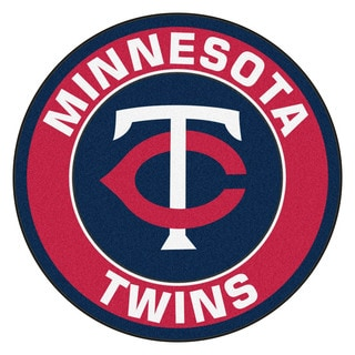 Fanmats MLB Arizona Minnesota Twins Red Nylon Roundel Mat (2'3 x 2'3)