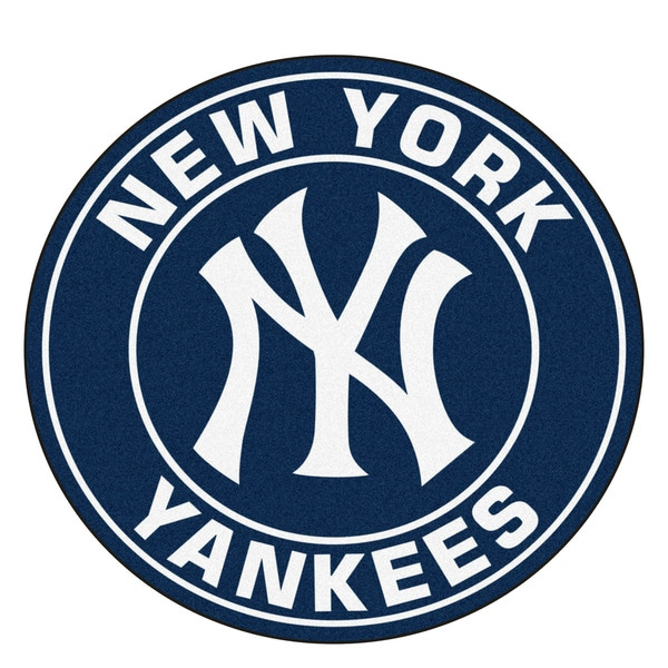Fanmats Mlb New York Yankees White And Black Nylon Roundel