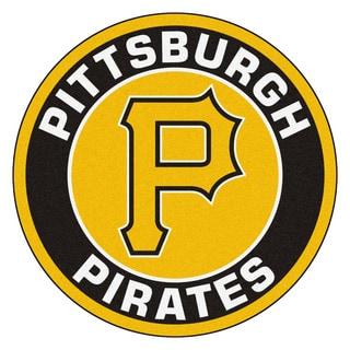 Fanmats MLB Pittsburgh Pirates Yellow and Black Nylon Roundel Mat (2'3 x 2'3)