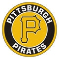 Fanmats MLB Pittsburgh Pirates Yellow and Black Nylon Roundel Mat (2'3 x 2'3)