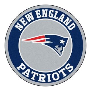 Fanmats NFL New England Patriots Grey and Navy Nylon Roundel Mat (2'3 x 2'3)
