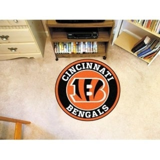 Fanmats NFL Cincinnati Bengals Orange and Black Nylon Roundel Mat (2'3 x 2'3)