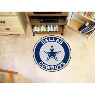 Fanmats NFL Dallas Cowboys Grey and Navy Nylon Roundel Mat (2'3 x 2'3)