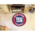 Fanmats NFL New York Giants Red and Navy Nylon Roundel Mat (2'3 x 2'3)