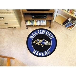 Fanmats NFL Baltimore Ravens Blue Nylon Roundel Mat (2'3 x 2'3)