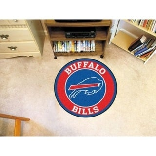 Fanmats NFL Buffalo Bills Red and Blue Nylon Roundel Mat (2'3 x 2'3)