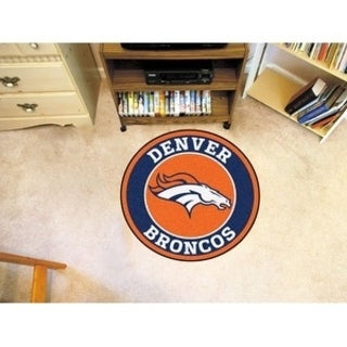 Fanmats NFL Denver Broncos Orange Nylon Roundel Mat (2'3 x 2'3)