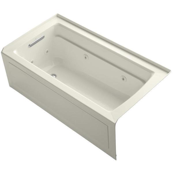 Kohler archer 5 foot whirlpool tub 17426513 overstock for Whirlpool garden tub