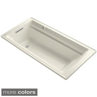 Kohler Archer BubbleMassage 6 Foot Air Bath Tub with Reversible Drain