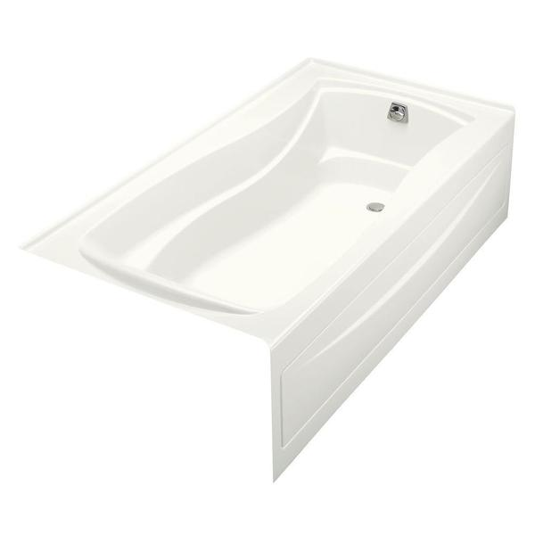 Kohler Mariposa BubbleMassage 6 Foot Right Hand Drain Air Bath Tub in White