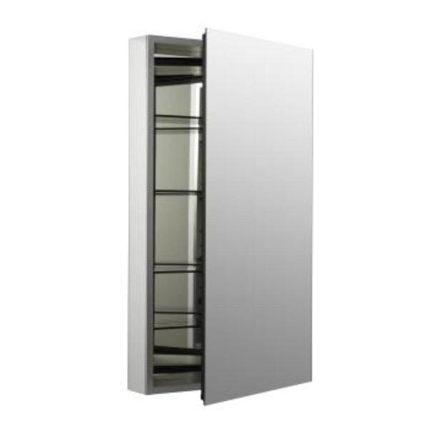 Kohler Catalan Mirrored Cabinet with 107 Degree Hinge in Satin Anodized Aluminum