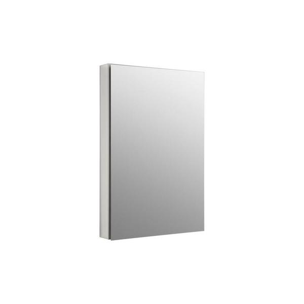 Kohler Catalan 24-1/8 inch Recessed or Surface Mount Medicine Cabinet in Satin Anodized Aluminum